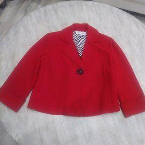 Danny Nicole Short Swing Blazer Red Size 8 Petite